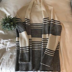 GAP Black & White Knit Cardigan